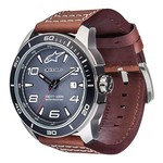 Tech Watch 3Hands (Correa de cuero marron)